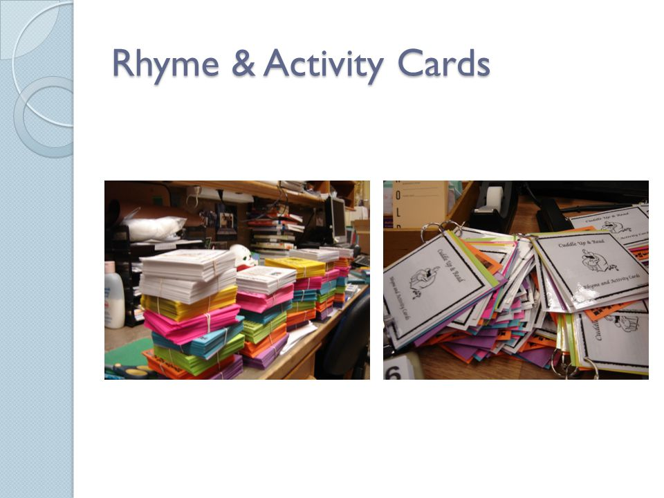 Rhyme & Activity Cards