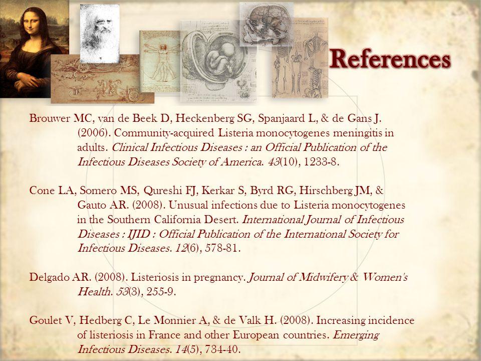 Brouwer MC, van de Beek D, Heckenberg SG, Spanjaard L, & de Gans J.