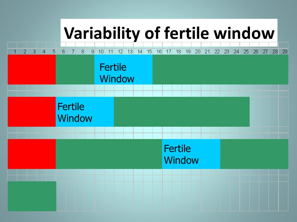 Variability of fertile window Fertile Window