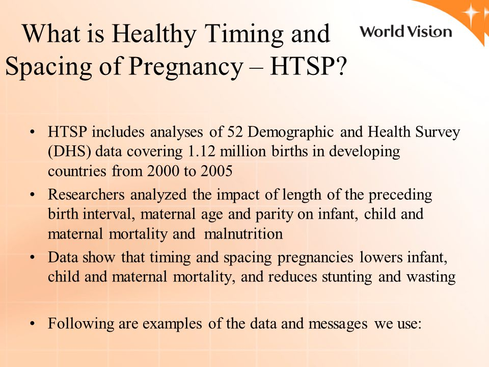 What is Healthy Timing and Spacing of Pregnancy – HTSP.