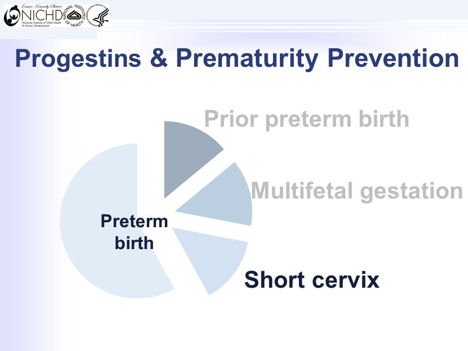 Prior preterm birth Preterm birth Multifetal gestation Short cervix Progestins & Prematurity Prevention