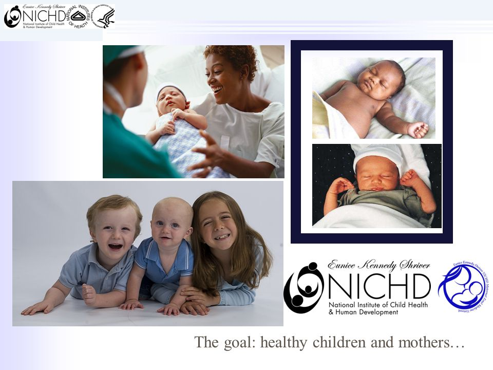 The goal: healthy children and mothers…