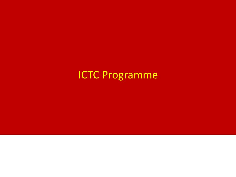 ICTC Programme