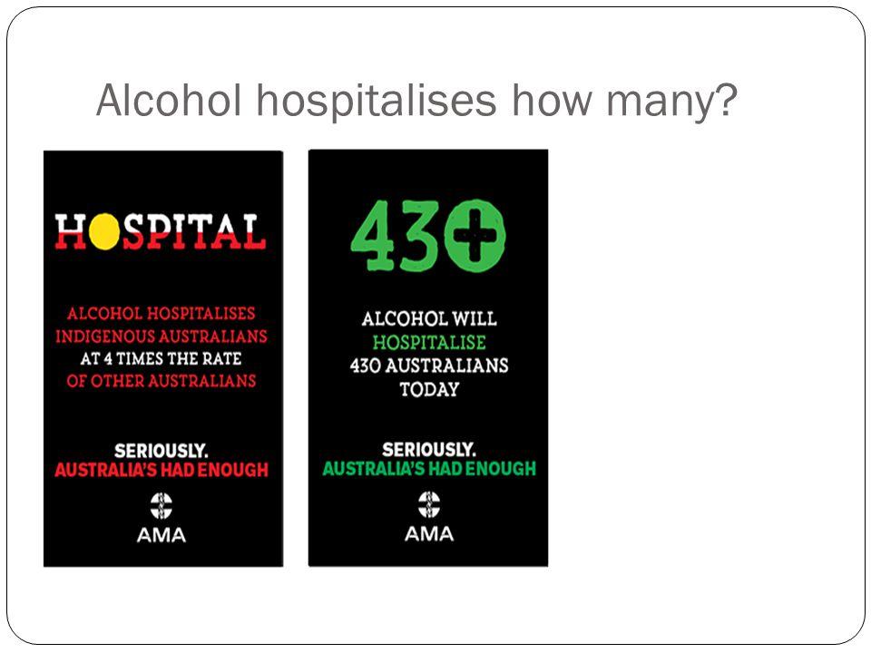 Alcohol hospitalises how many?
