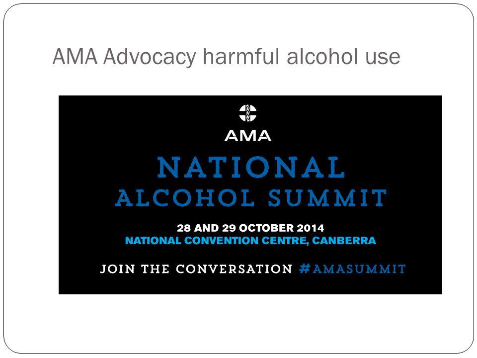 AMA Advocacy harmful alcohol use
