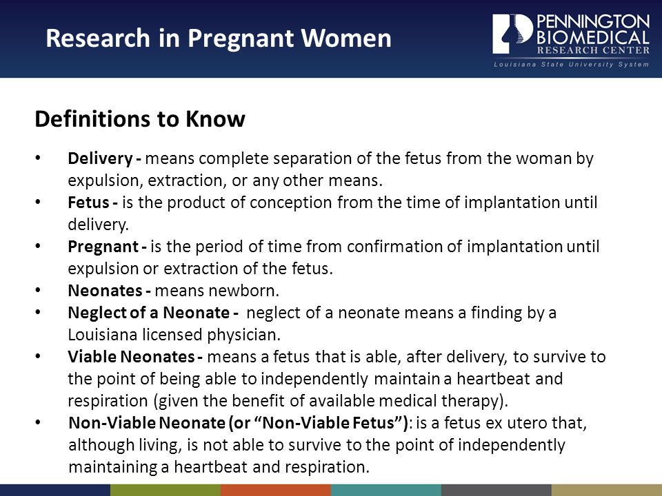 Definitions to Know Delivery - means complete separation of the fetus from the woman by expulsion, extraction, or any other means.