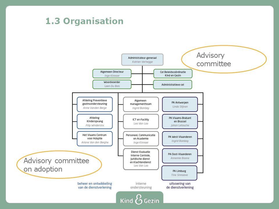 1.3 Organisation Advisory committee Advisory committee on adoption