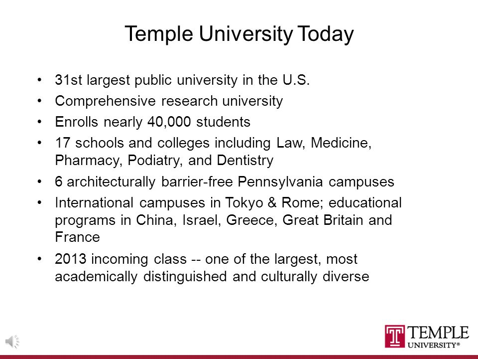WELCOME TO TEMPLE UNIVERSITY Office of the Senior Vice Provost for Faculty Development and Faculty Affairs ______________________________________