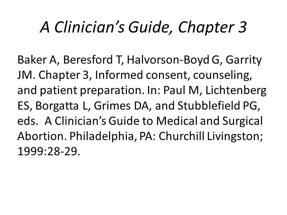 A Clinician's Guide, Chapter 3 Baker A, Beresford T, Halvorson-Boyd G, Garrity JM.