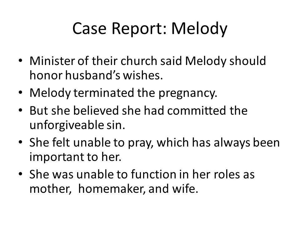 Case Report: Melody Major Depressive Episode.Suicidal.