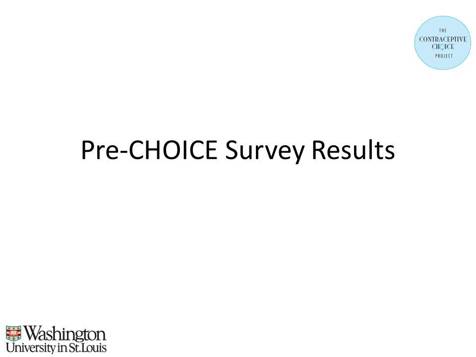 Pre-CHOICE Survey Results