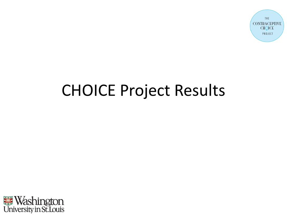 CHOICE Project Results