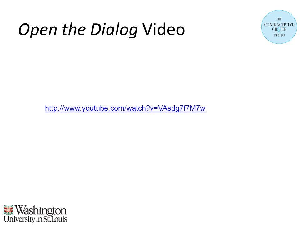 Open the Dialog Video http://www.youtube.com/watch v=VAsdg7f7M7w