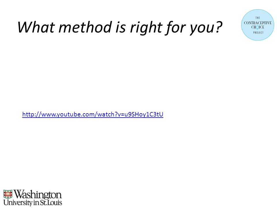 What method is right for you http://www.youtube.com/watch v=u9SHoy1C3tU