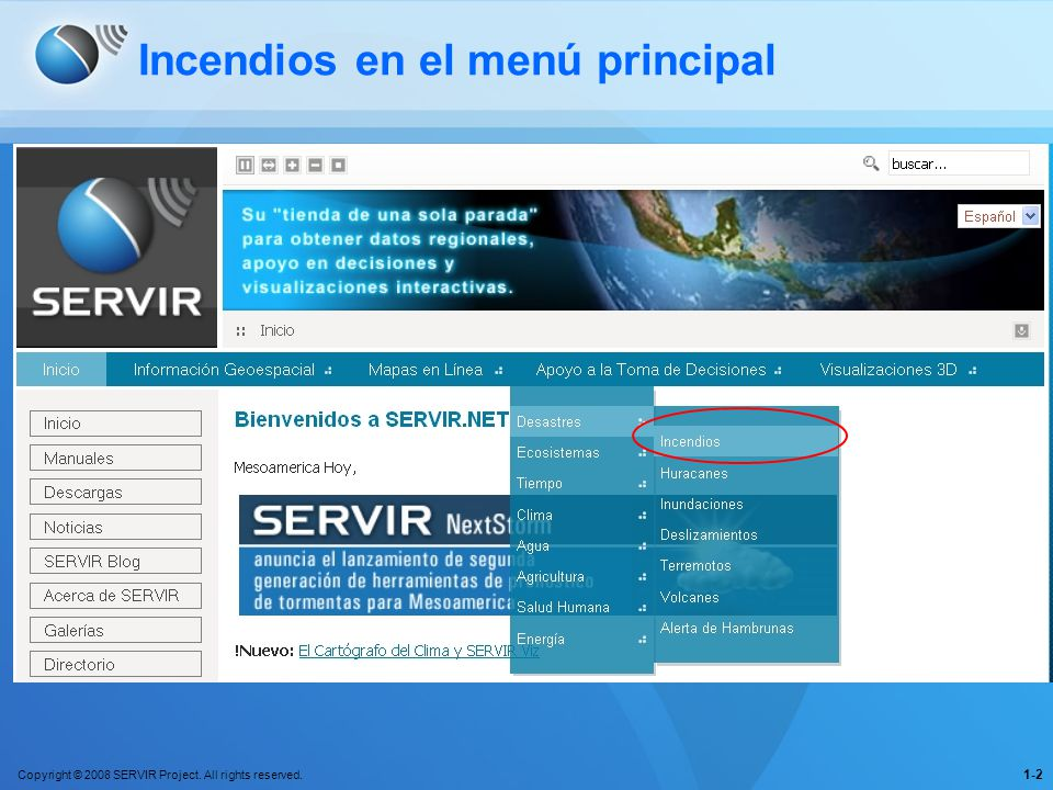 Copyright © 2008 SERVIR Project. All rights reserved.