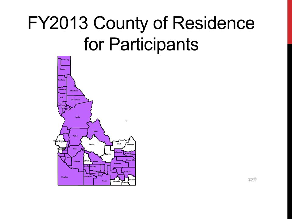 FY2013 County of Residence for Participants