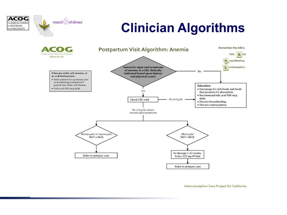 Clinician Algorithms