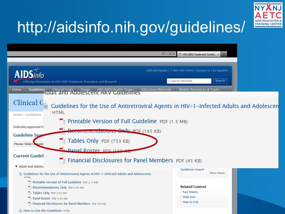 http://aidsinfo.nih.gov/guidelines/