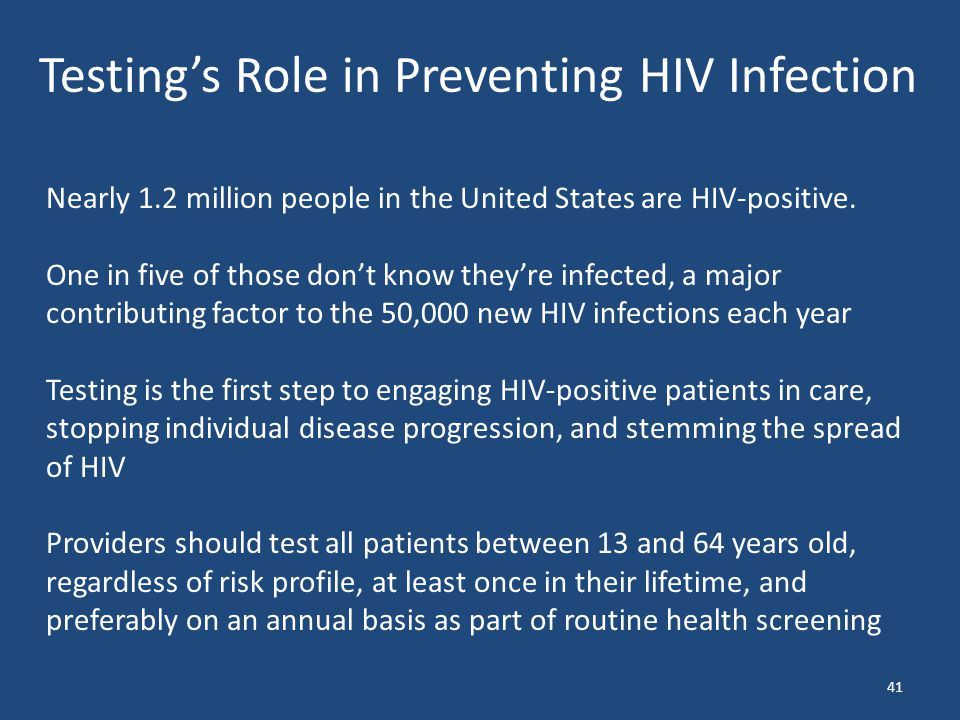 Nearly 1.2 million people in the United States are HIV-positive.