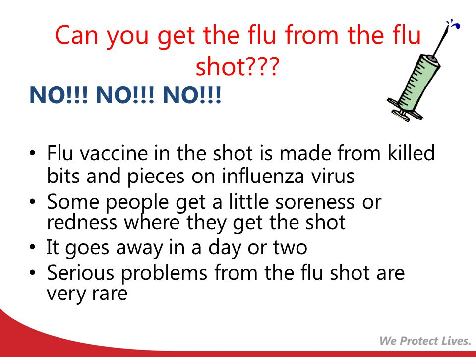 Can you get the flu from the flu shot??.NO!!. NO!!.