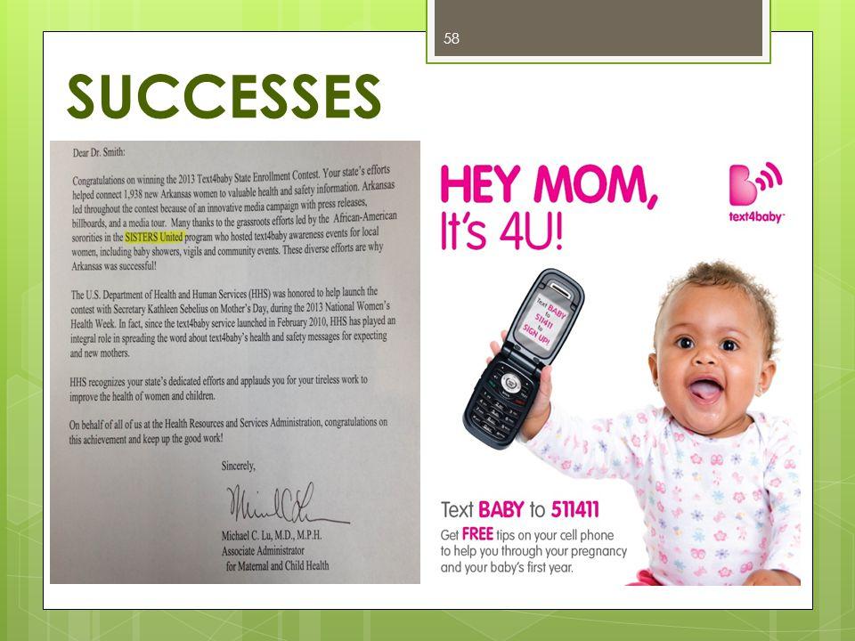 SUCCESSES 58