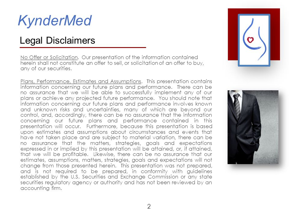 KynderMed  Focused on unmet medical needs in Obstetrics An innovation wasteland  IP estate includes both pharmaceutical and device applications covering the regulation of uterine contractions  First product is a medical device to delay the onset of premature labor.