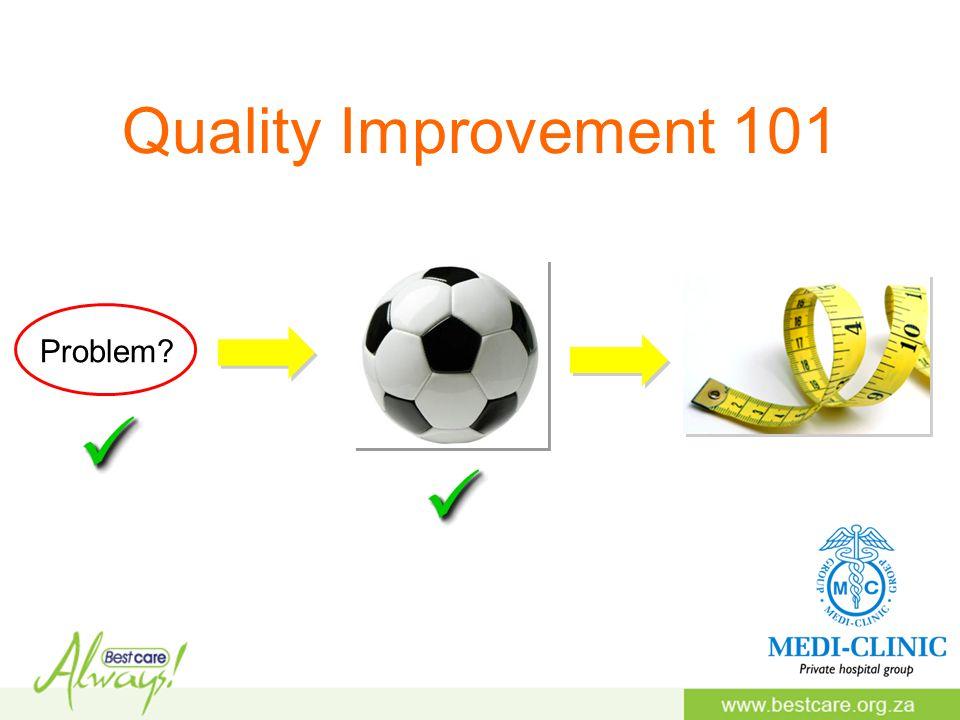 Quality Improvement 101 Problem?