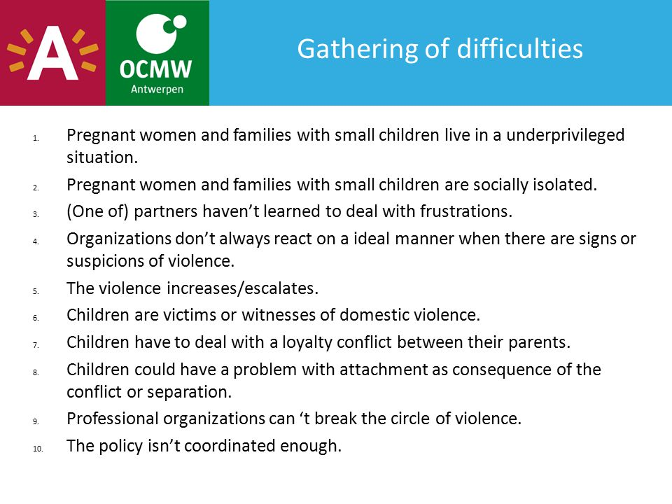 Gathering of difficulties 1.