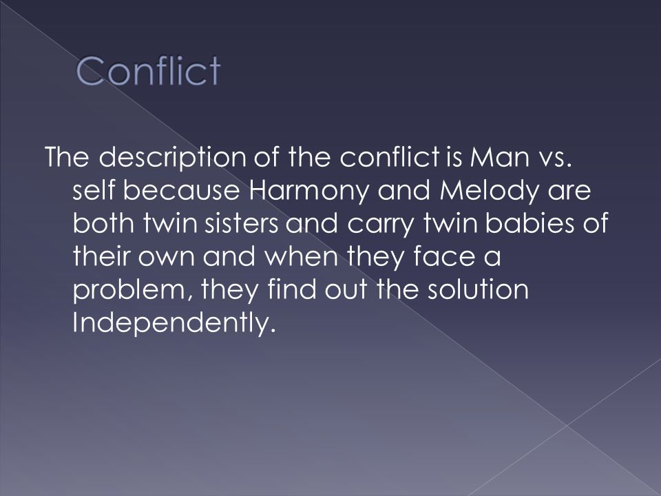 The description of the conflict is Man vs.