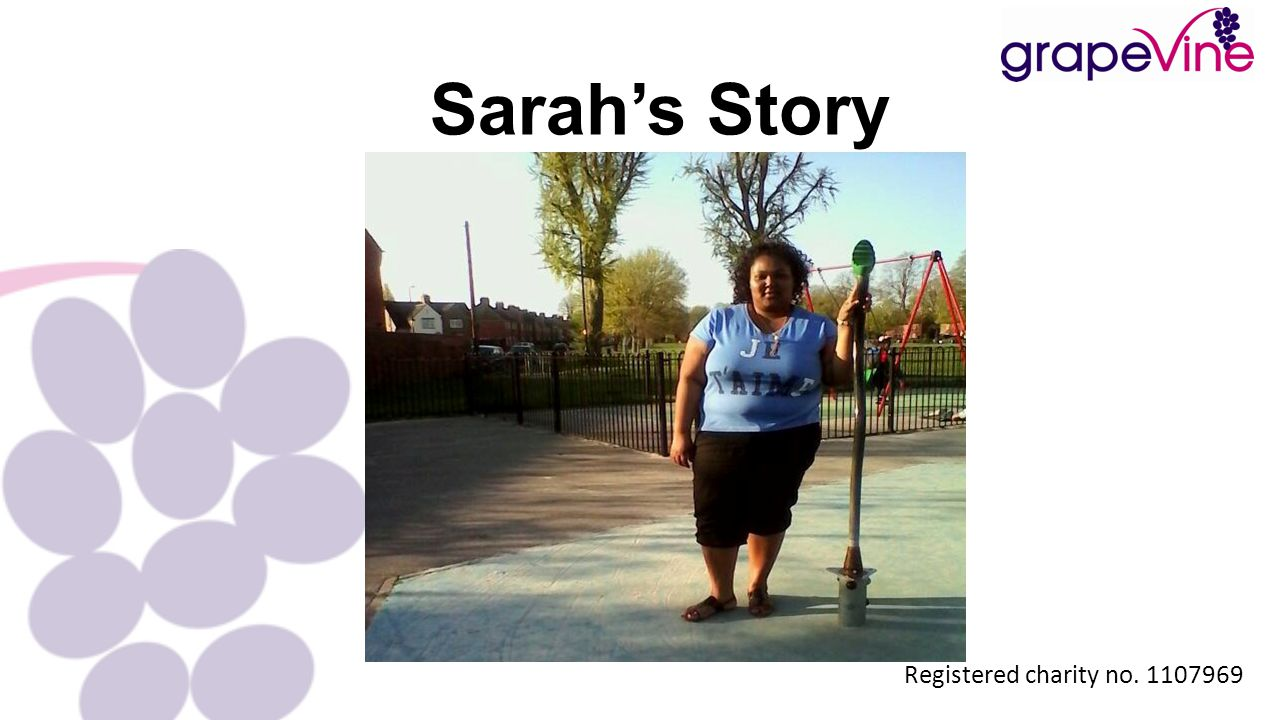Sarah's Story Registered charity no. 1107969