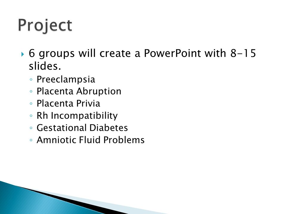  6 groups will create a PowerPoint with 8-15 slides.