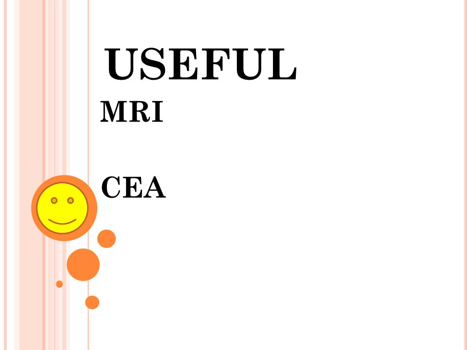 USEFUL MRI CEA