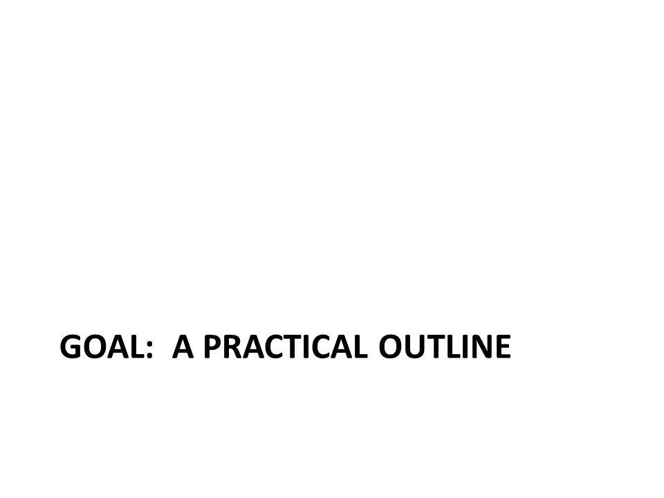 GOAL: A PRACTICAL OUTLINE