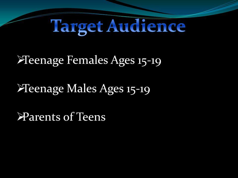  Teenage Females Ages 15-19  Teenage Males Ages 15-19  Parents of Teens