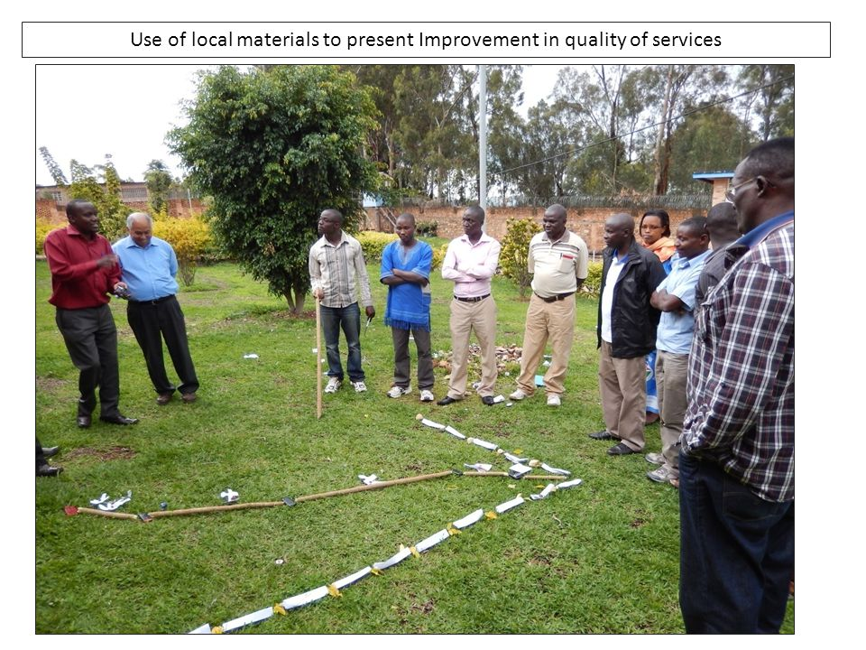 Use of local materials to present Improvement in quality of services