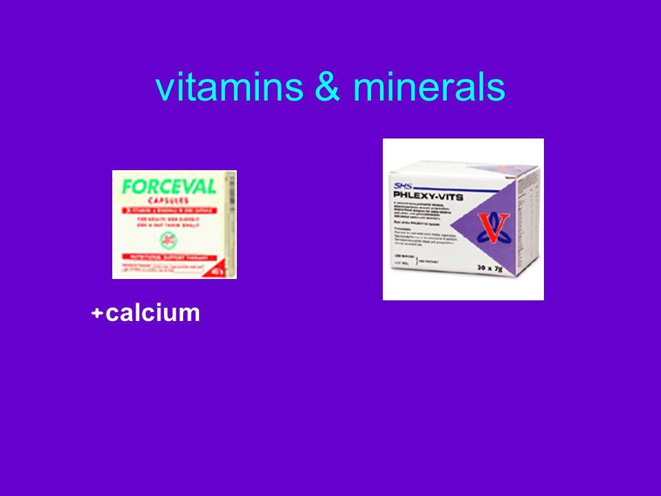 vitamins & minerals + calcium