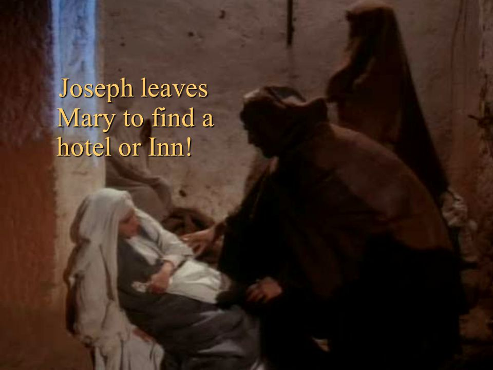 But there were many people in Bethlehem to be taxed, so it was hard to find a room.