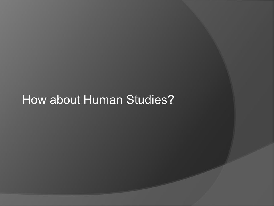 How about Human Studies?