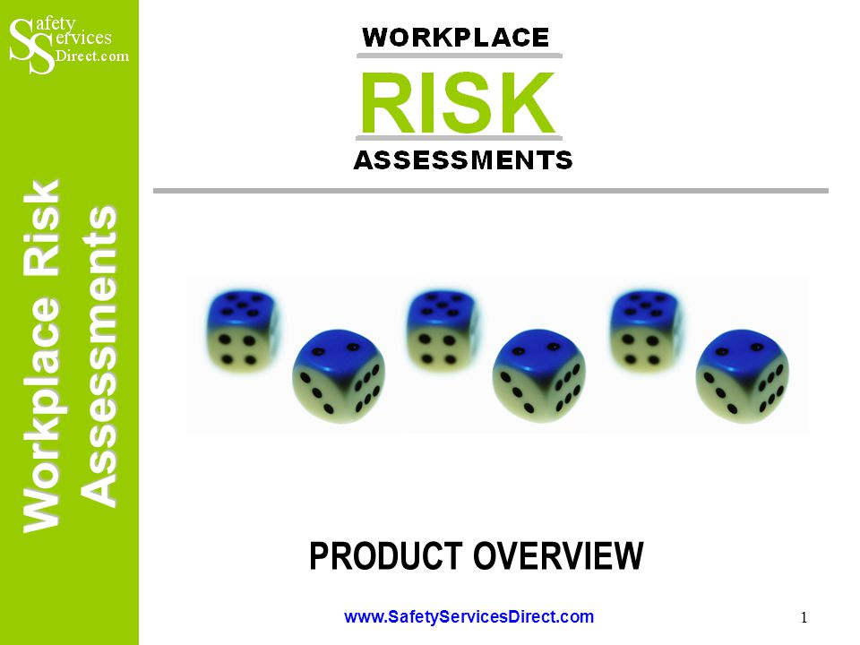Workplace Risk Assessments www.SafetyServicesDirect.com 2 Workplace Risk Assessments This presentation has been prepared to provide users and potential purchasers of the Workplace Risk Assessments software with a brief overview of the product and the benefits it offers