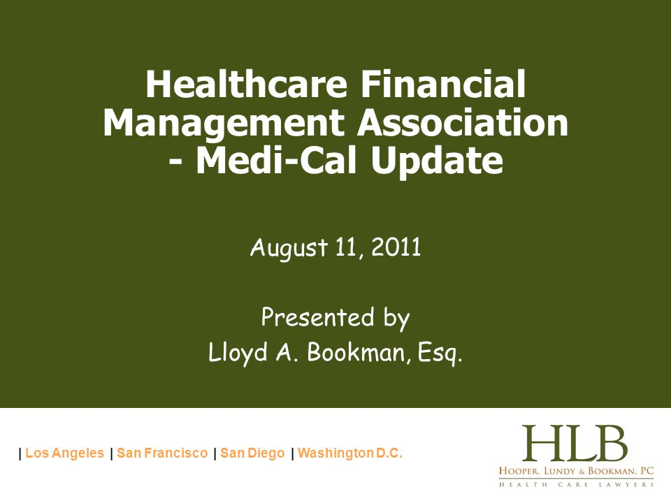 Hooper, Lundy & Bookman, PC© 1101094.1 2 Medi-Cal Litigation  Pending Hospital Fee-for-Service Cases  SB 90  CHA Settlement Discussions  Summary of Status of Cuts and Limits since July 1, 2008  The SPA Disapprovals  The Proposed SPA Approval Regulations