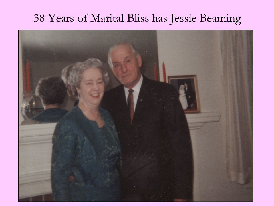38 Years of Marital Bliss has Jessie Beaming