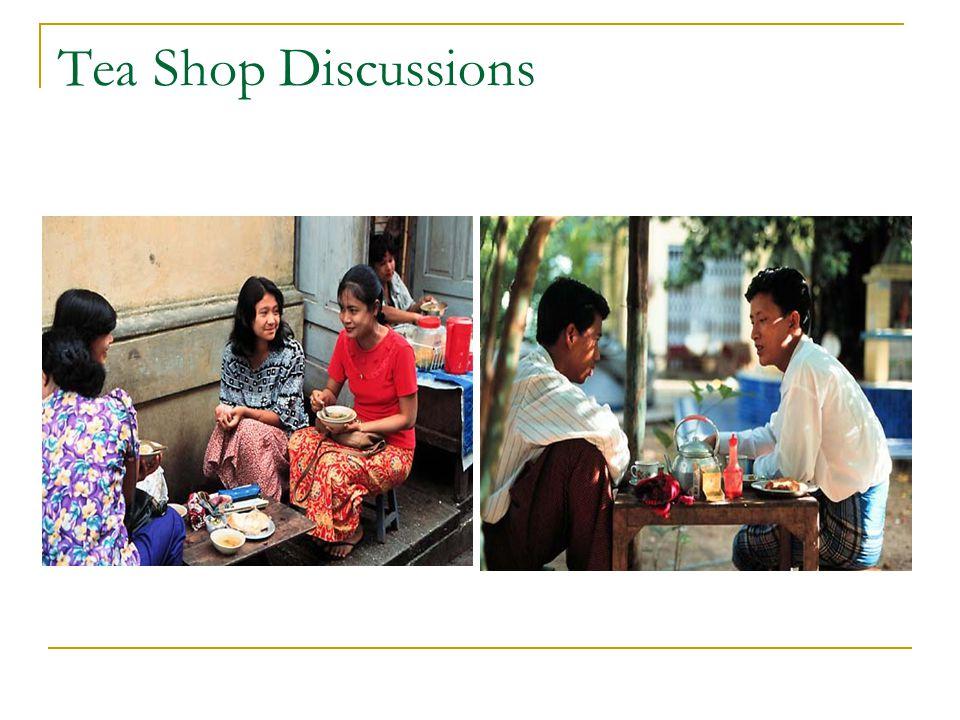 Tea Shop Discussions
