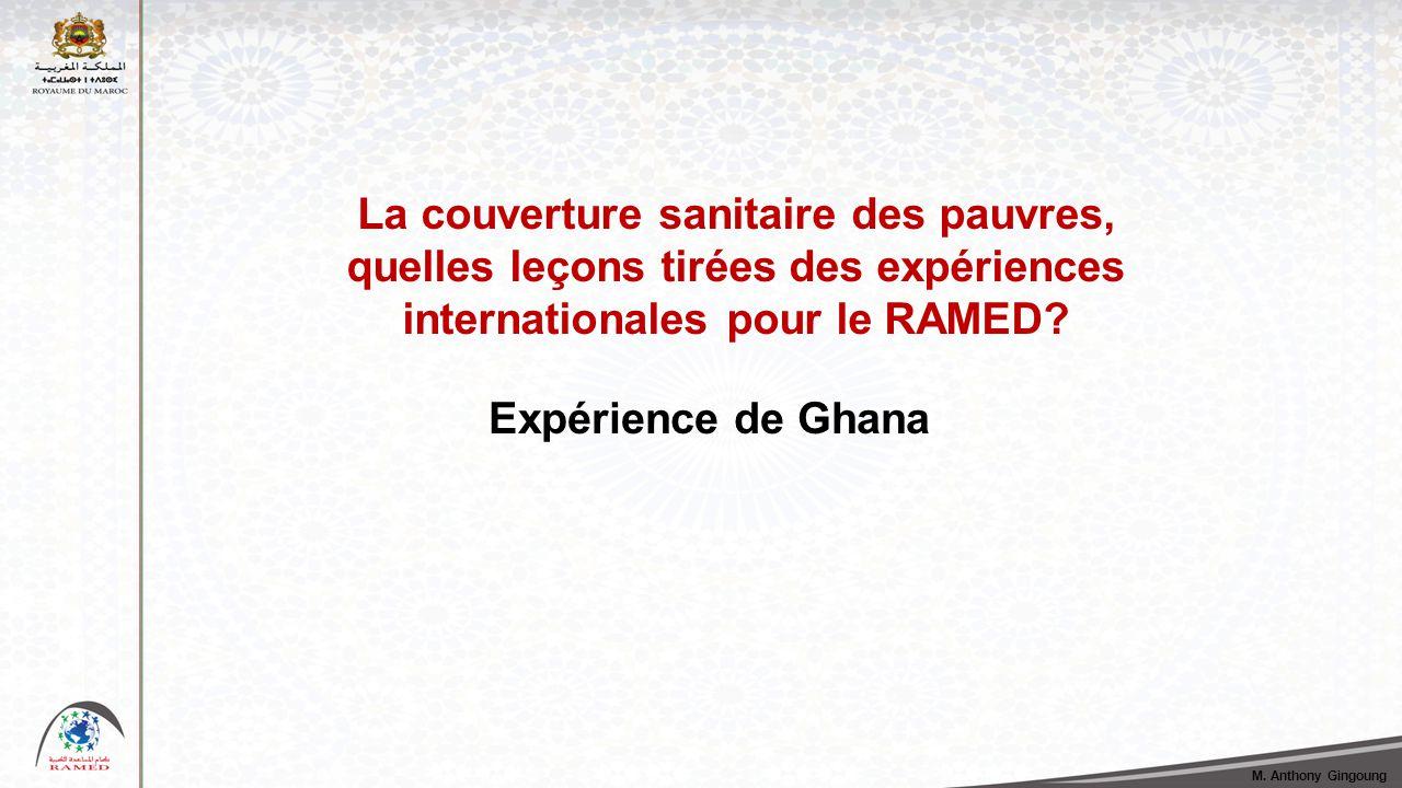 La couverture sanitaire des pauvres, quelles leçons tirées des expériences internationales pour le RAMED.