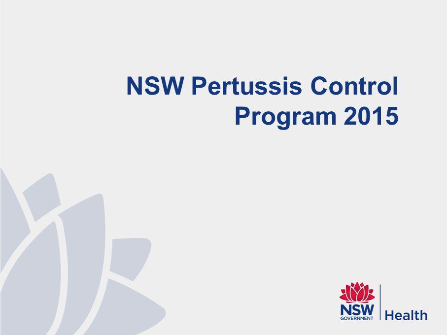 NSW Pertussis Control Program 2015