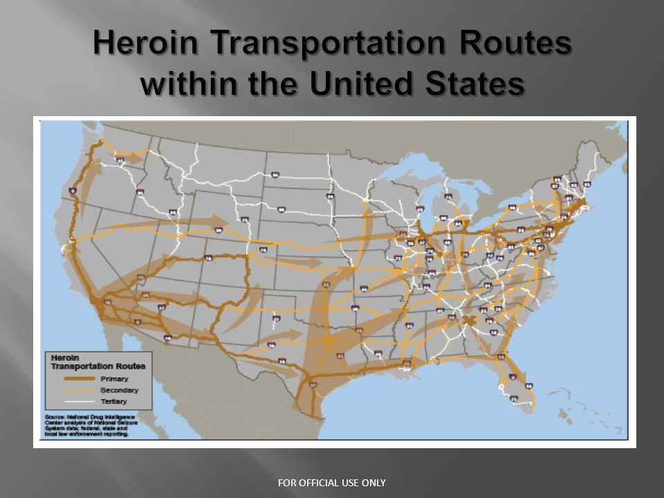 Addicts turn to Heroin because it is cheaper, easier to obtain and offers users a more intense high - Local users will make multiple trips a day to source cities where Heroin is cheaper and readily available through open air drug markets.