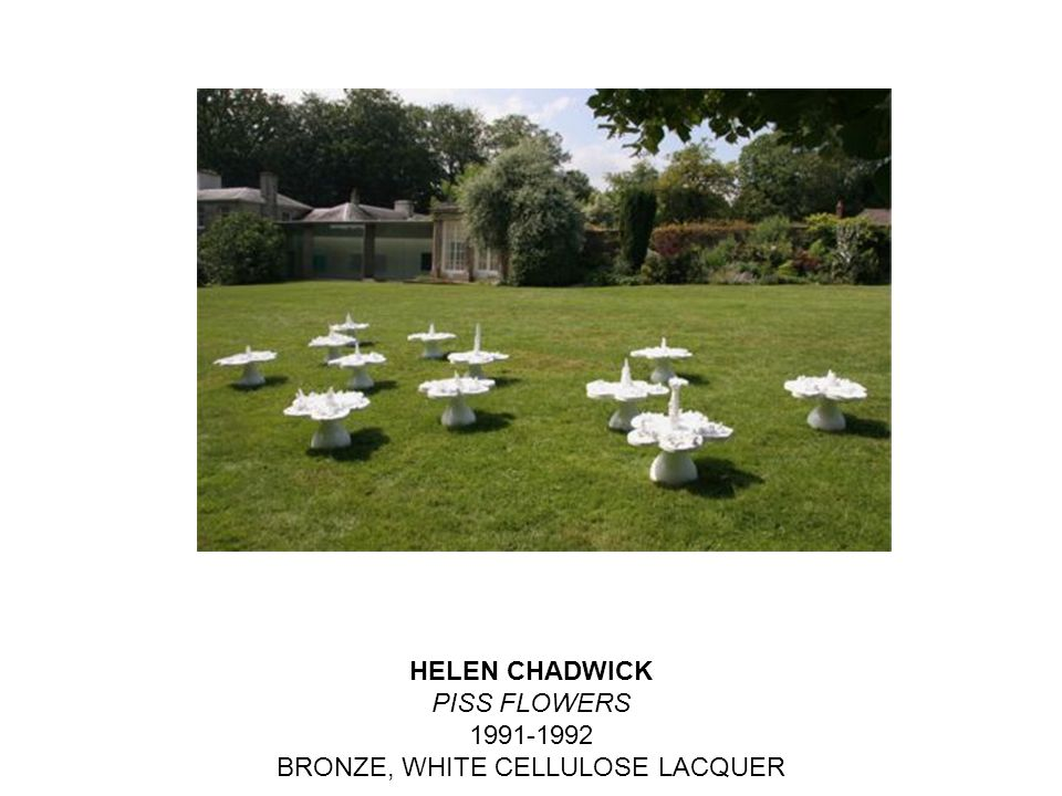 HELEN CHADWICK PISS FLOWERS 1991-1992 BRONZE, WHITE CELLULOSE LACQUER