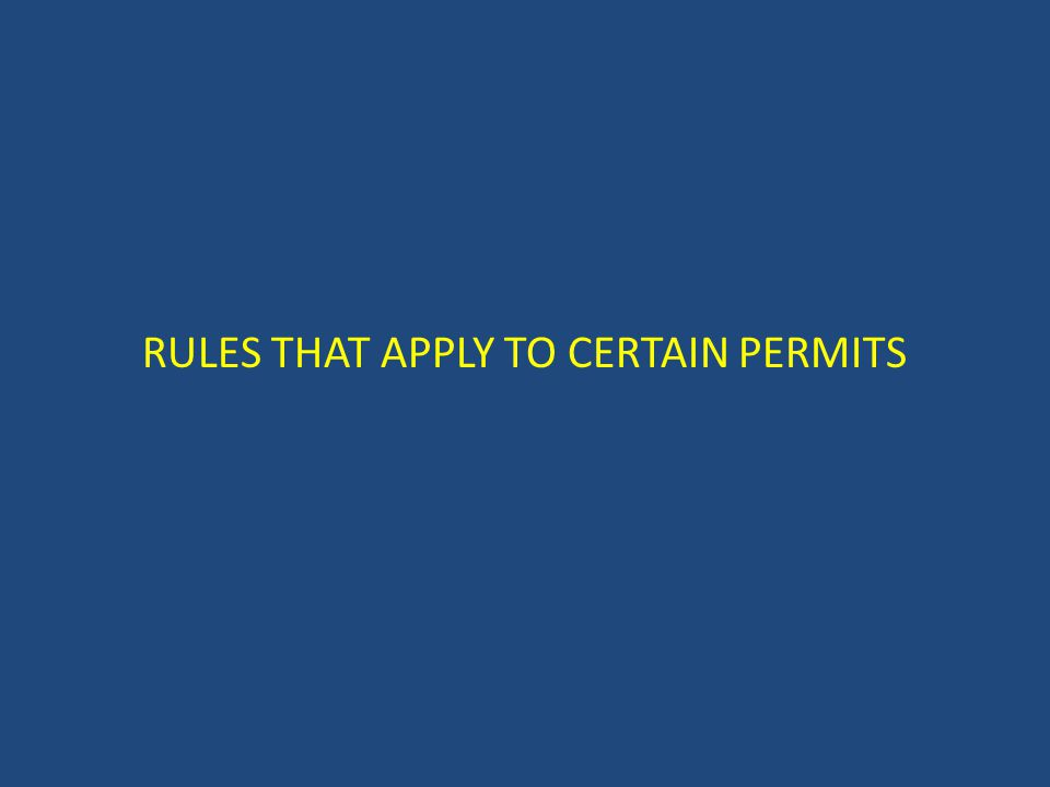 Types of Permits There are 50 different types of permits and licenses in the TABC On-premise and off-premise permits Typical on-premise permit holders: – Restaurants and bars – Private clubs Typical off-premise permit holders: – Package stores – Other retail stores