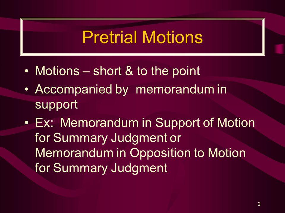 The Trial Brief & Supporting Memorandum & CREAC Review Professor Mathis Rutledge