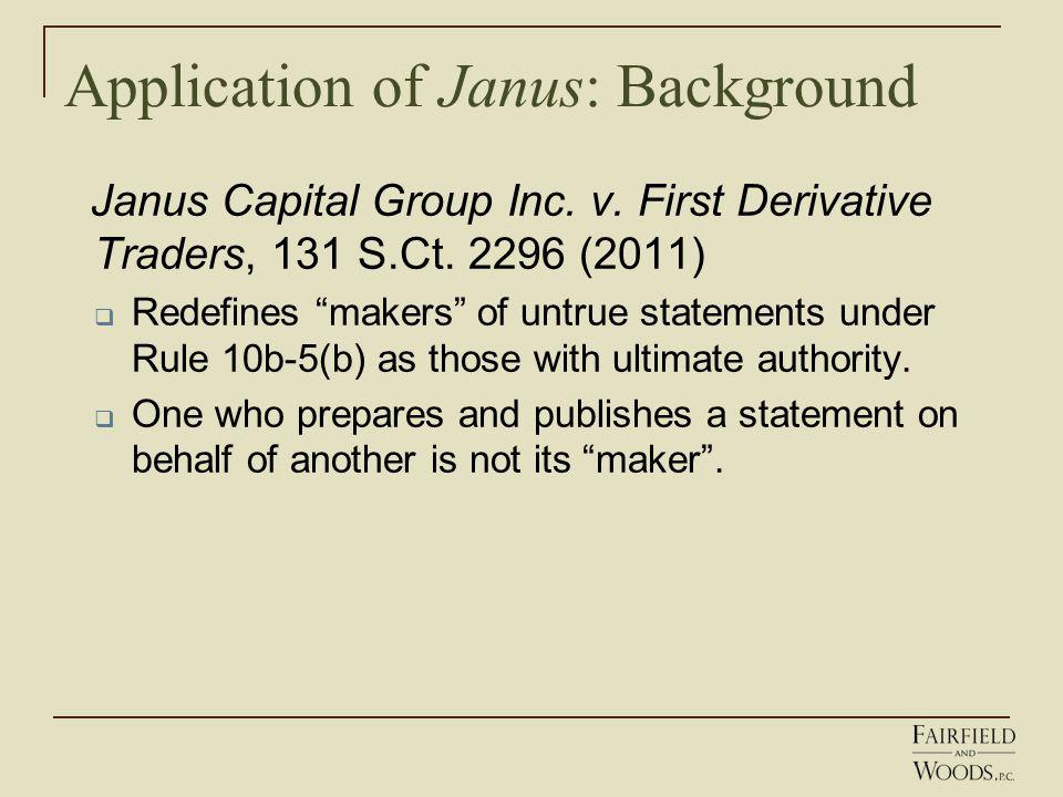 Application of Janus: Background Janus Capital Group Inc.