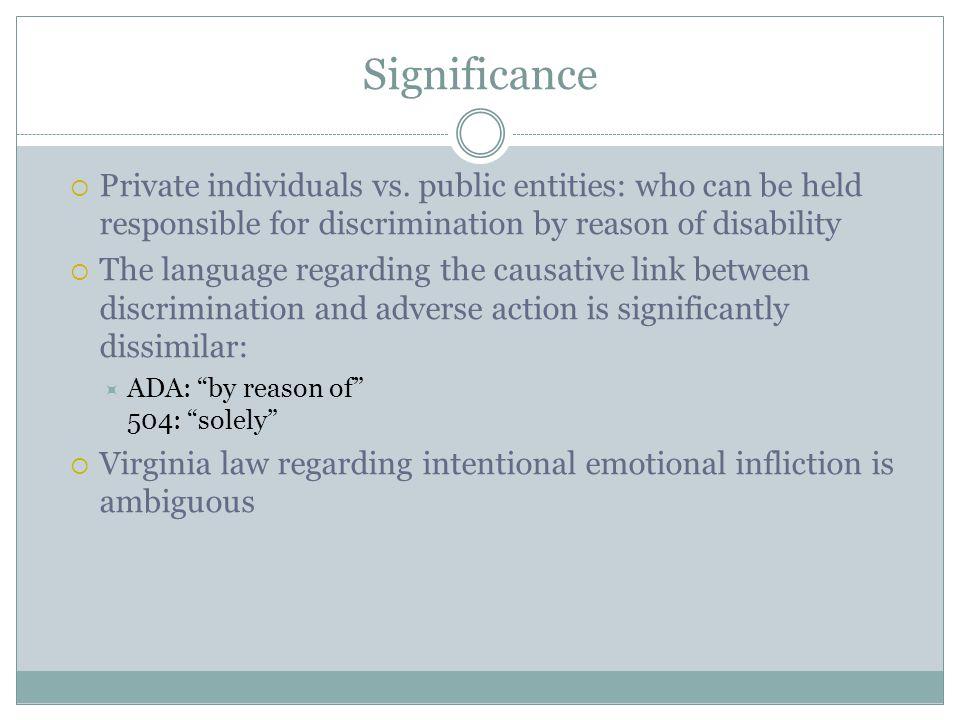 Significance  Private individuals vs.